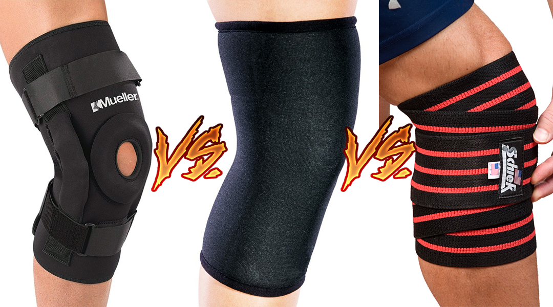 31c721469a Knee Sleeves vs Knee Wraps vs Knee Braces – What is the difference?